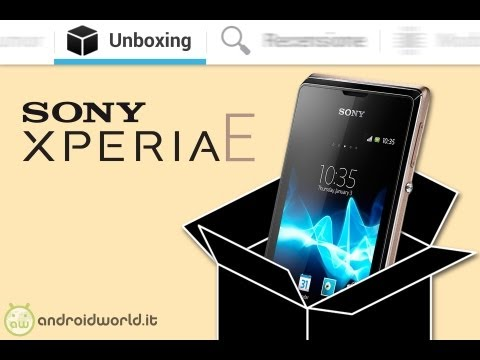 Sony Xperia E. unboxing in italiano by AndroidWorld.it