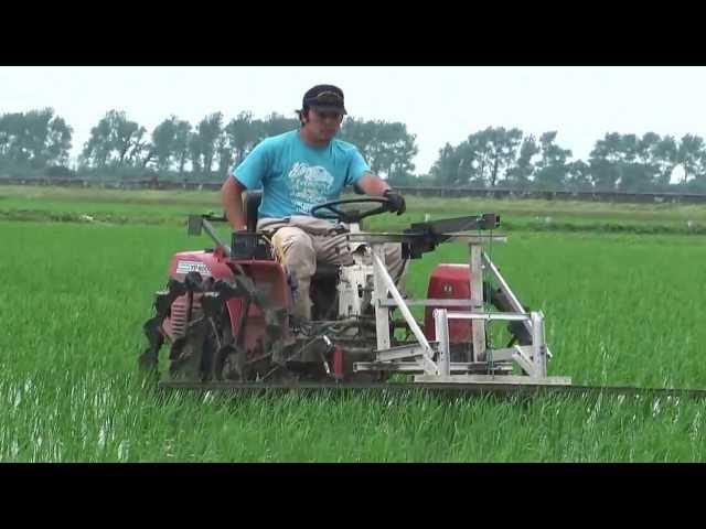 Kỹ thuật canh tác nông nghiệp hiện đại tại Nhật Bản (Máy làm cỏ lúa Nhật Bản)