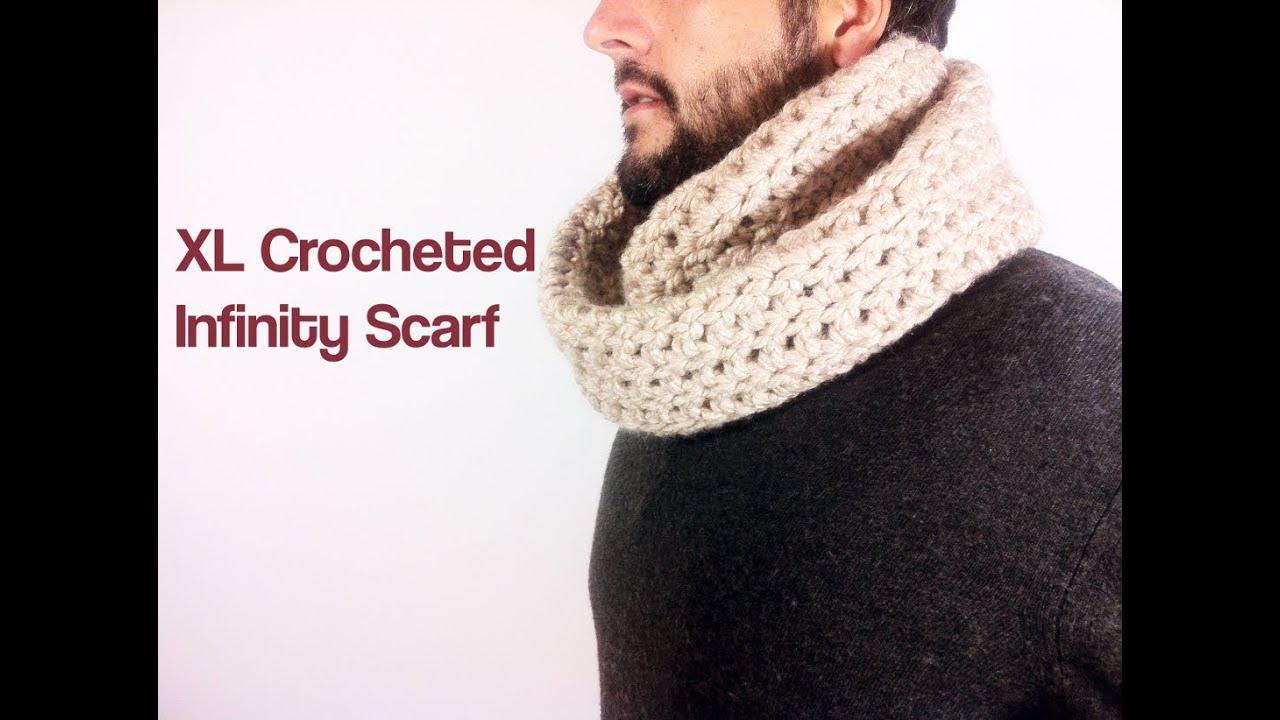 How To Crochet An Infinity Scarf With Bulky Yarn Youtube
