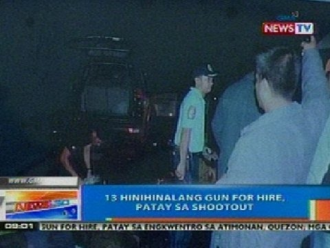 NTG: 13 hinihinalang gun-for-hire, patay sa shootout sa Atimonan, Quezon
