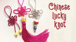 Easy way to make Chinese lucky knot - most popular and old macrame patter - thắt nút đồng tâm