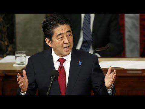 Shinzo Abe hält als erster japanischer Regierungschef Rede vor dem US-Kongress