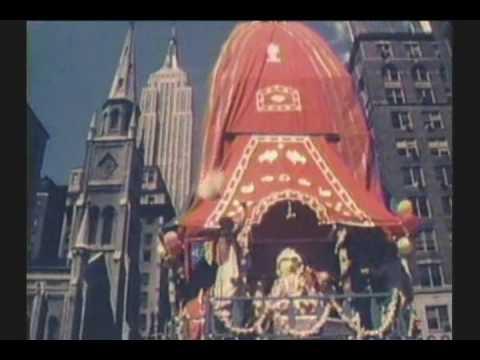 PRABHUPADA NYC RATHA YATRA 1976 W/ EMPIRE STATE BUILDING RARE COLOR FILM