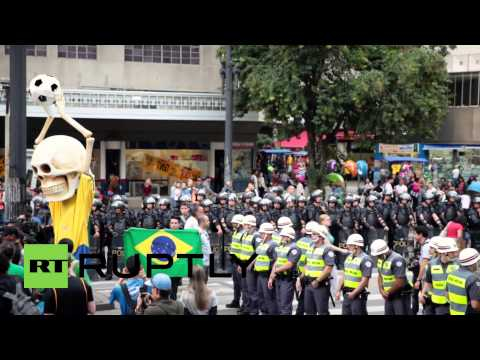 Brazil: Anti-world cup protests rock Sao Paulo 2-weeks before kick-off