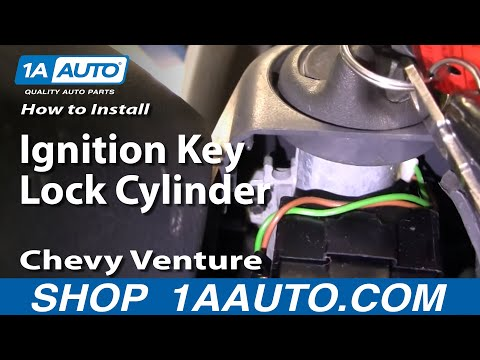 How To Install Replace Ignition Key Lock Cylinder Chevy Venture Trans Sport 97-98 1AAuto.com