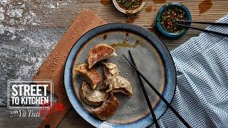 Pan Fried Pork Dumplings / Potstickers 高麗菜豬肉鍋貼 | Street to Kitchen Asia with Yu Tsai