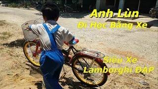 Anh Lùn Đi Học Bằng Siêu Xe Lamborghini 2 Bánh Thân Thiện Môi Trường !! Đạp Thôi !