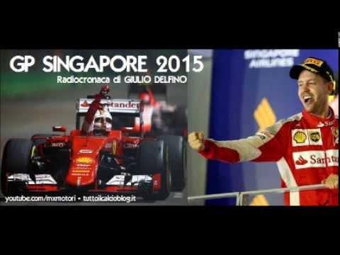 Gp SINGAPORE 2015 - Radiocronaca di Giulio Delfino (MARINA BAY) VETTEL POLE E VITTORIA (Radio Rai)