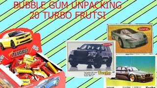 Распаковка 20 фруктовых турбо жвачек! Unpacking 20 frutss turbo gum!