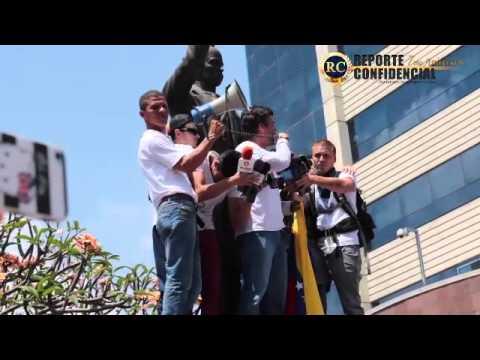 Discurso de Leopoldo Lopez Momento antes de entregarse a la Guardia Nacional