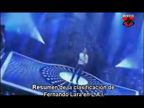 clasificacion de fernando lara en latin american idol
