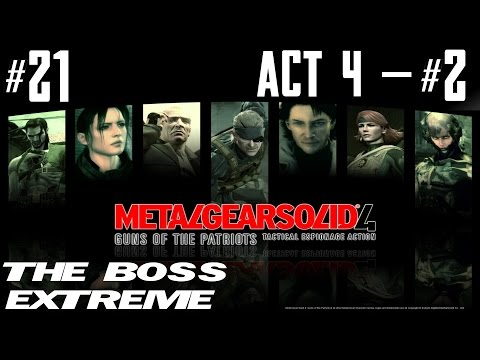 Metal Gear Solid 4 - The Boss Extreme Walkthrough - Part 21 - Act 4 - Twin Suns #2 - Crying Wolf video