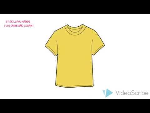 Видео как нарисовать футболку