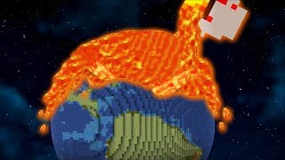Minecraft NOTHING CAN STOP THIS GIANT VOLCANO ERUPTION !! Minecraft Mods