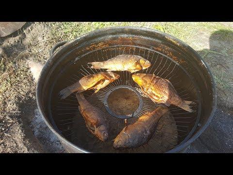 Рыба горячего копчения в самодельной коптильне из кастрюли!