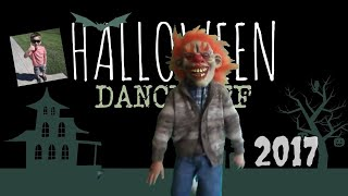 Cute Kid Has Halloween Dance Off With Himself a Scary Clown and a Crazy Chimp