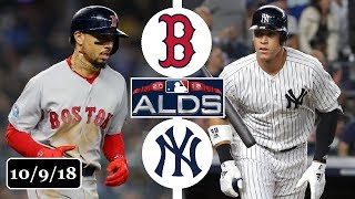 Boston Red Sox vs New York Yankees Highlights || ALDS Game 4 || October 9, 2018