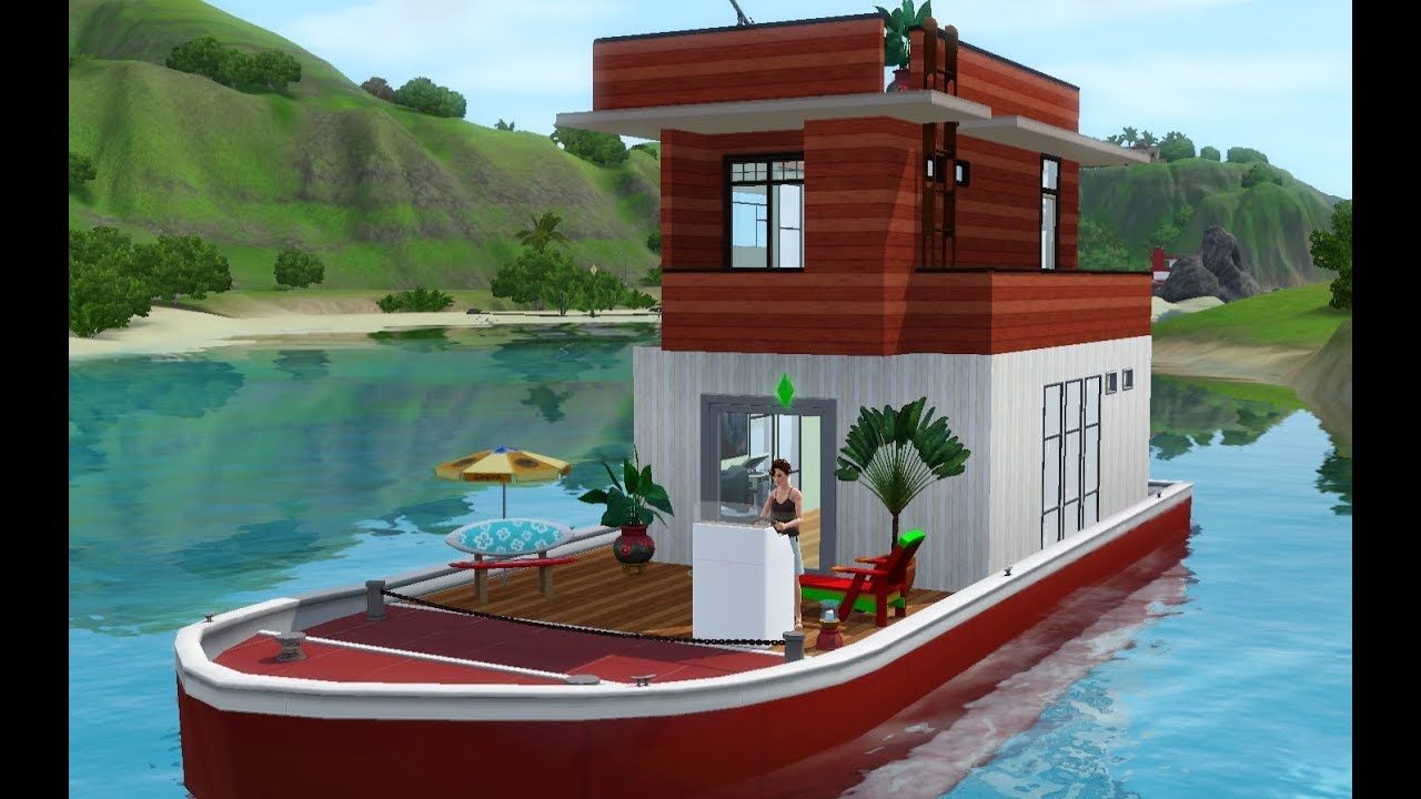 Lets Play The Sims 3 Island Paradise Building A Houseboat YouTube