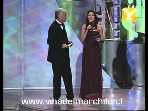 Presentación Coanimadora Alicia Machado y Jurado Competencia Internacional, Festival de Viña 1999