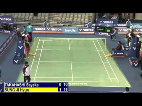 R16 - WS - Sung Ji Hyun vs Takahashi Sayaka - 2014 Korea Badminton Open (G2)