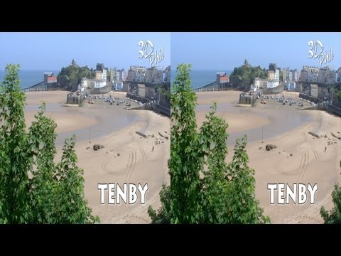 3D Film - Tenby, Pembrokeshire, Wales, - by 3D Phil - View in HD