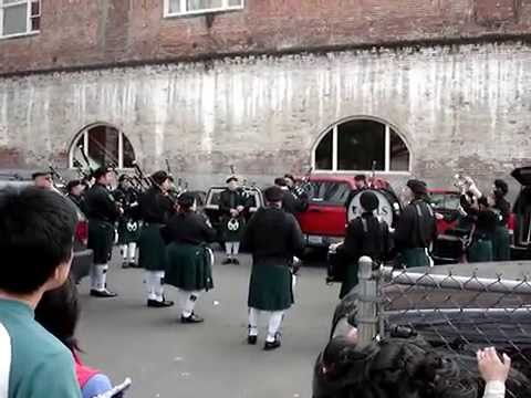 Irish Bagpipers Warm Up with Scotland the Brave and The Rowan Tree
