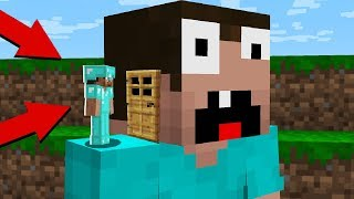 PRO BUILD HOUSE in the HEAD of a NOOB! in Minecraft Noob vs Pro