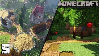 Let's Build a Vineyard #5 APPLE ORCHARD : MINECRAFT 1.13.2 Survival Let's Play