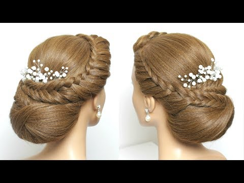 Simple Bridal Updo. Hairstyle For Long Hair Tutorial Step by Step