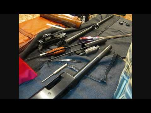 Winchester Model 1200 shotgun disassembly field strip