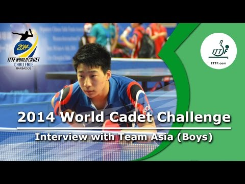 Interview with Team Asia after Boys' Team final