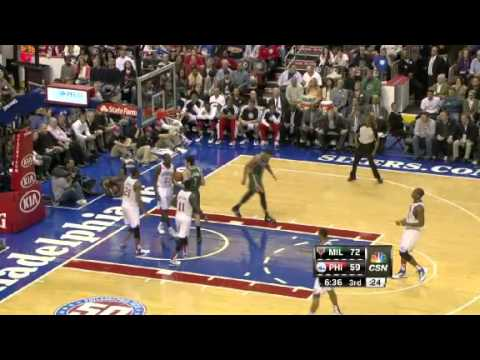 Milwaukee Bucks vs. Philadelphia Sixers Full Highlights 12 November 2012