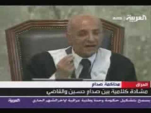 Saddam  صدام في المحكمة .. أجمل مقال قاله صدام  هههههههههه