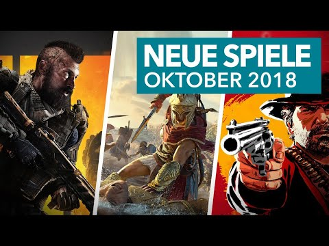 Neue Spiele im Oktober 2018 für PS4, Xbox One & Nintendo Switch - Release-Vorschau