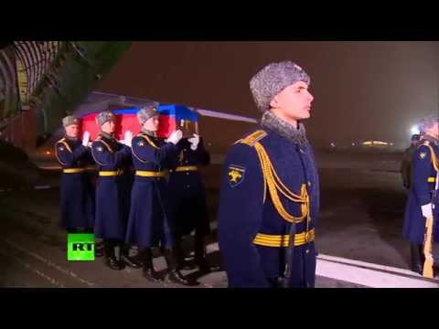 Remains of Su-24 pilot killed in Syria arrive in Russia