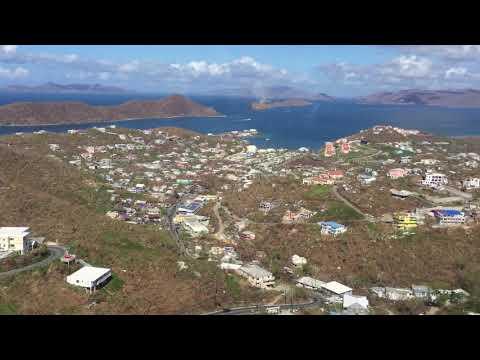 9/17/16 Aerial Footage Tutu to Sapphire St Thomas USVI after Hurricane Irma