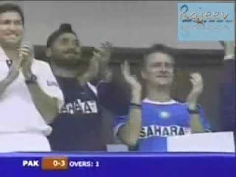 Irfan Pathan Hat-trick Aginst Pakistan In First Over video
