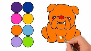 drawing: How to Draw A Cute Dog Step By Srep | Dog Coloring Animation | colorsMA