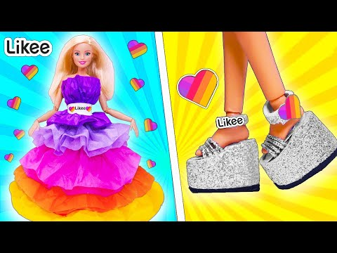 12 ЛАЙФХАКОВ в стиле LIKEE для куклы ЛОЛ и Барби! Идеи для Школы LIFE HACKS