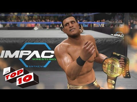 TOP 10 EPIC CUSTOM TITLES / CHAMPIONSHIPS IN WWE 2K17! (WWE, TNA, NXT, GFW)
