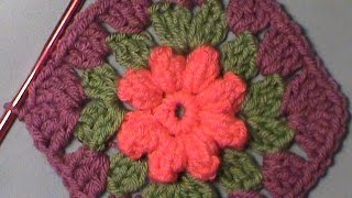 "How to Crochet the ""Blooming Granny Square"""