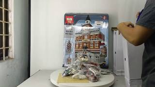 Mở hộp Lepin 15003 Lego Exclusives Modular Buildings 10224 Town Hall giá sốc rẻ nhất