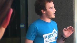 AYCC Australian Youth Climate Coalition SA calls for 100% renewable energy to fight climate change