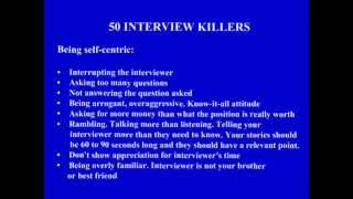50 Job interview Mistakes (Interview killers) to avoid - Part 2/2