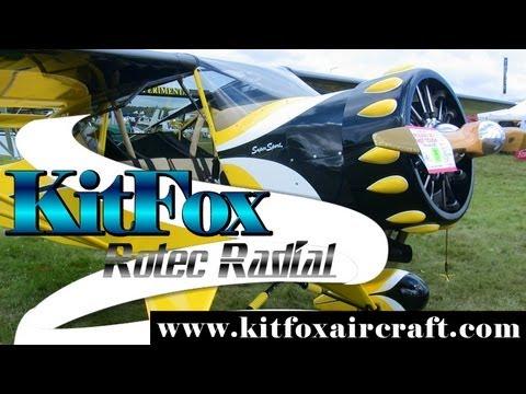 Kitfox, KitFox Aircraft with Rotec Radial aircraft engine.
