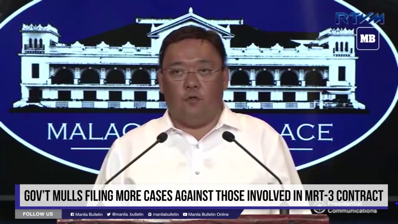Gov't mulls filing more cases against those involved in MRT 3 contract