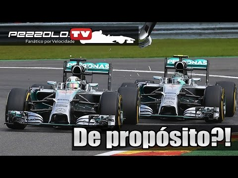 Acidente de Rosberg e Hamilton - GP da Belgica de F1