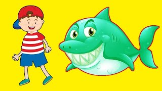 Baby Shark #Sing and dance! #Color Learning Song #Nursery Rhymes & Kids Songs #Animal Songs