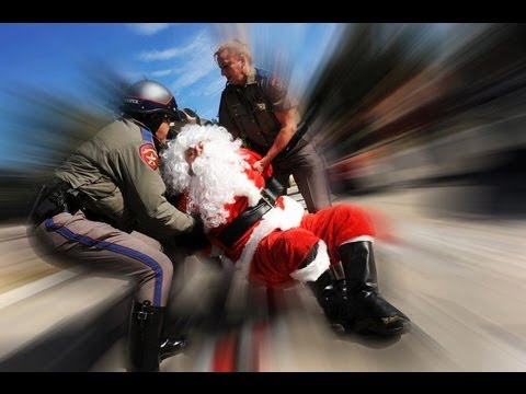 Santa Gets Arrested for Chalking in Austin