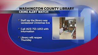 Washington County library vandalized